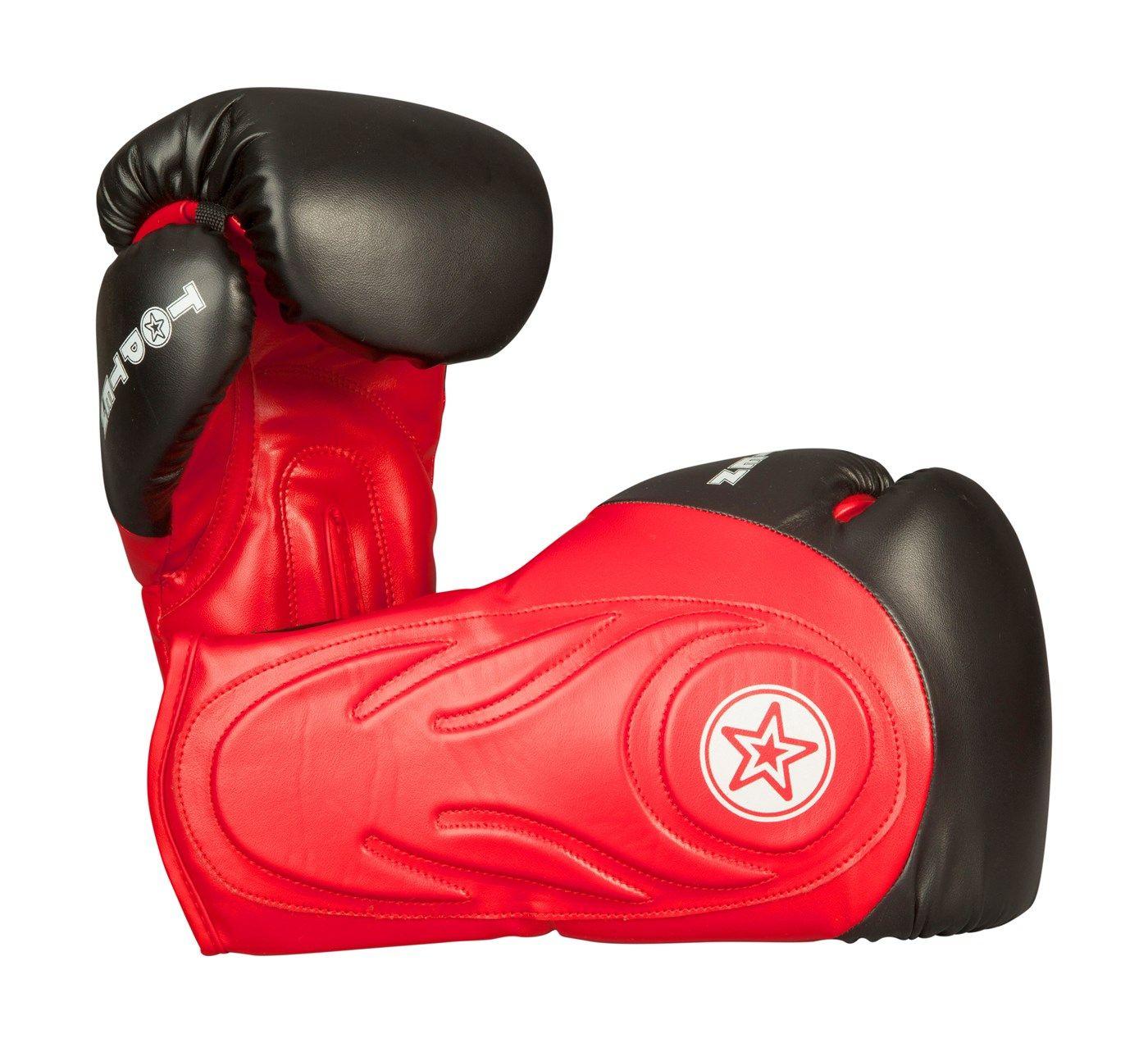 """TOP TEN sparringshandschoenen """"Hero"""" Rood - Zwart"""