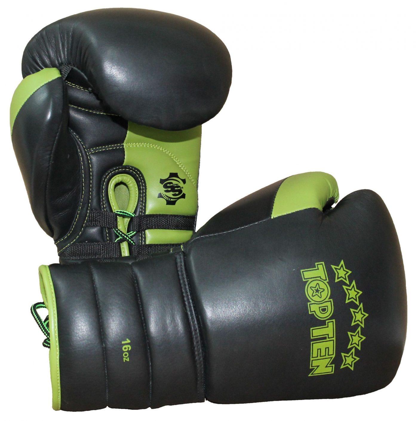 "sparringshandschoenen ""Lace Up Pro"" Zwart - Groen"