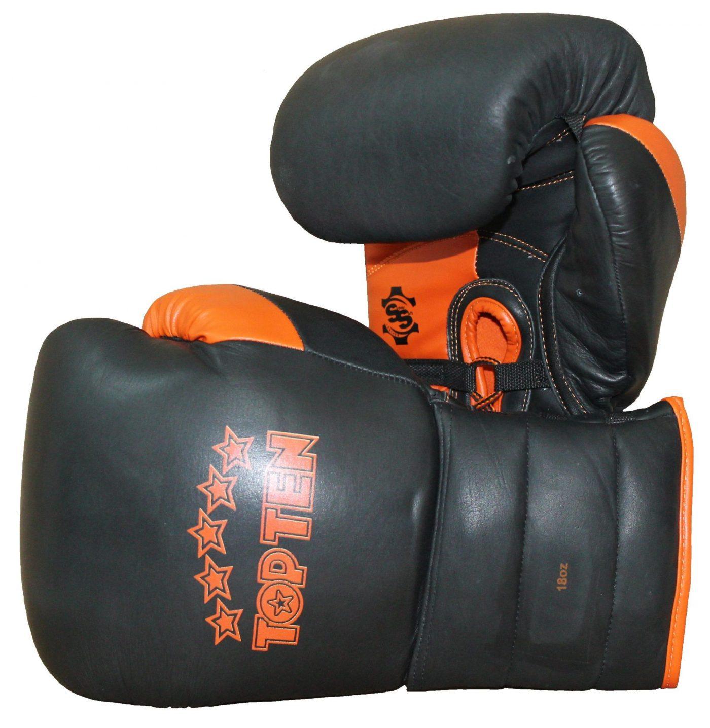 "sparringshandschoenen ""Lace Up Pro"" Zwart - Oranje"