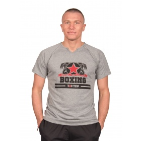 "TOP TEN T-Shirt ""Boxing"" Grijs"