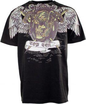 """T-Shirt """"Death"""" Zwart - goud"""