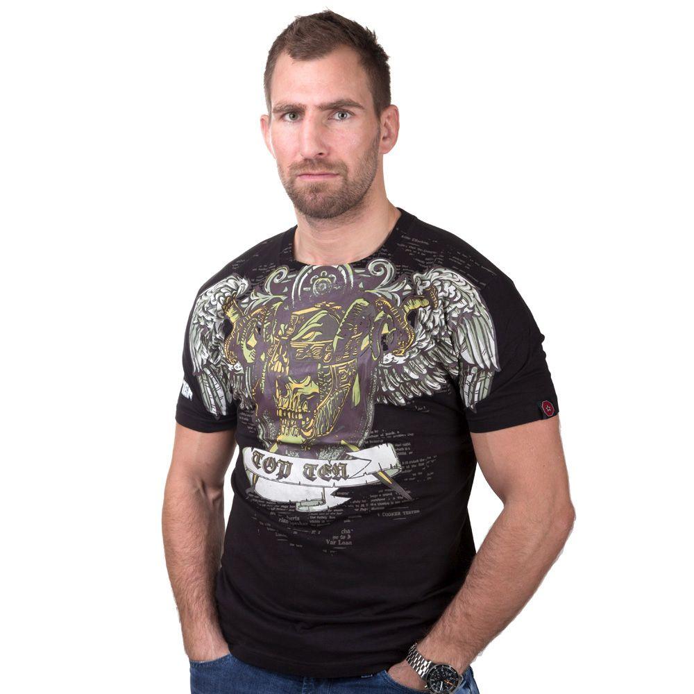 """TOP TEN T-Shirt """"Death"""" Zwart - goud"""