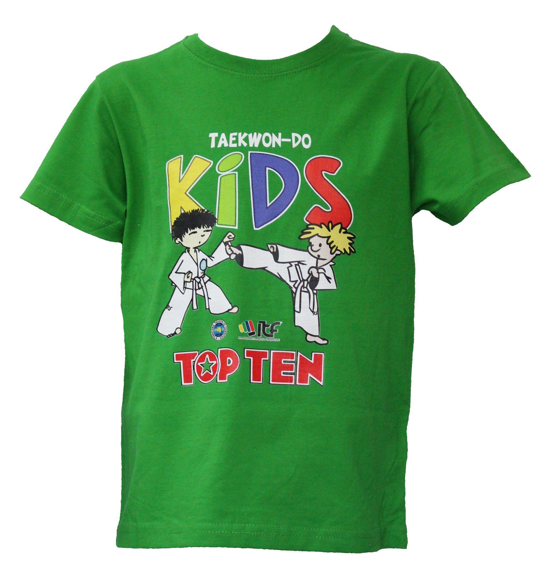 """TOP TEN T-Shirt voor kinderen """"ITF KIDS"""" voor kinderen Groen"""