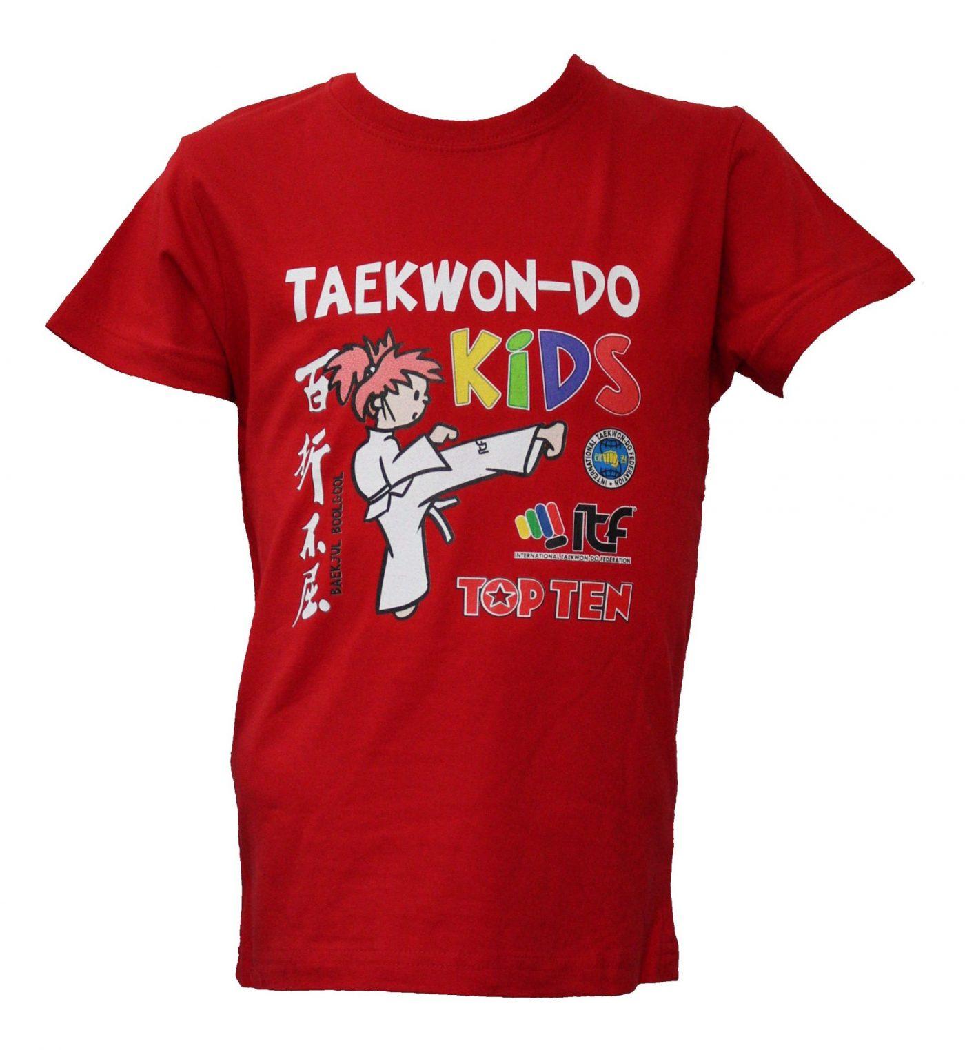 """TOP TEN T-Shirt voor kinderen """"ITF KIDS"""" voor kinderen Rood"""