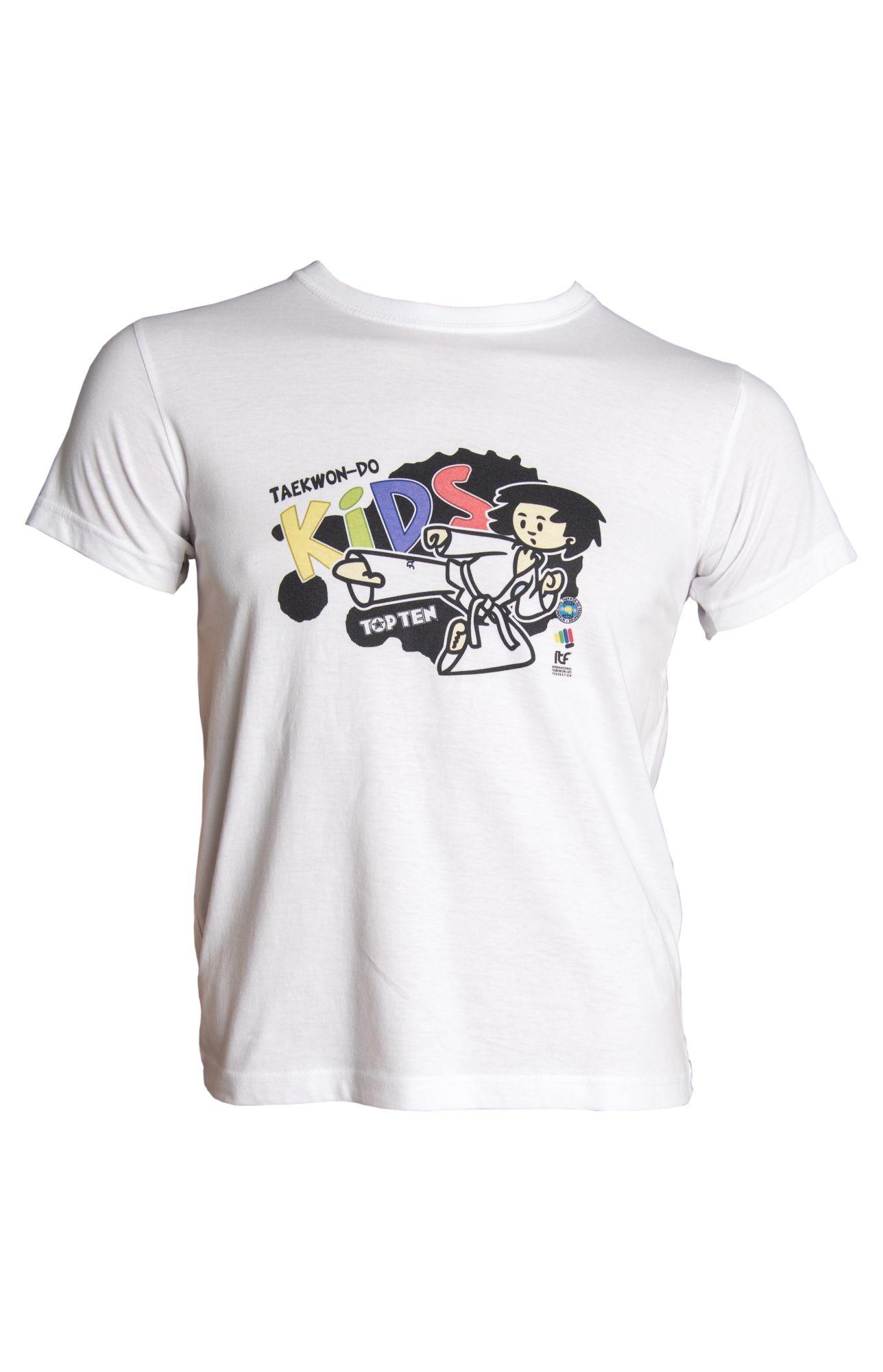 """TOP TEN T-Shirt voor kinderen """"ITF KIDS"""" voor kinderen Wit"""