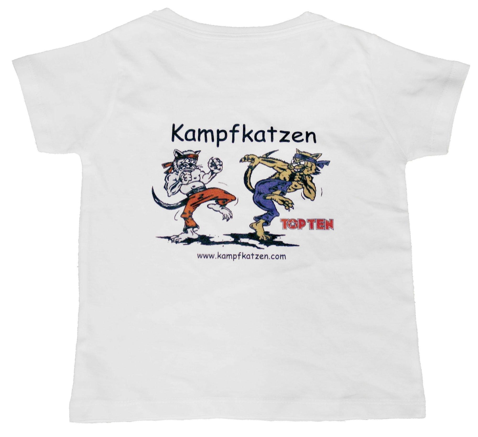 """TOP TEN T-Shirt voor kinderen """"Kampfkatzen"""" voor kinderen Wit"""