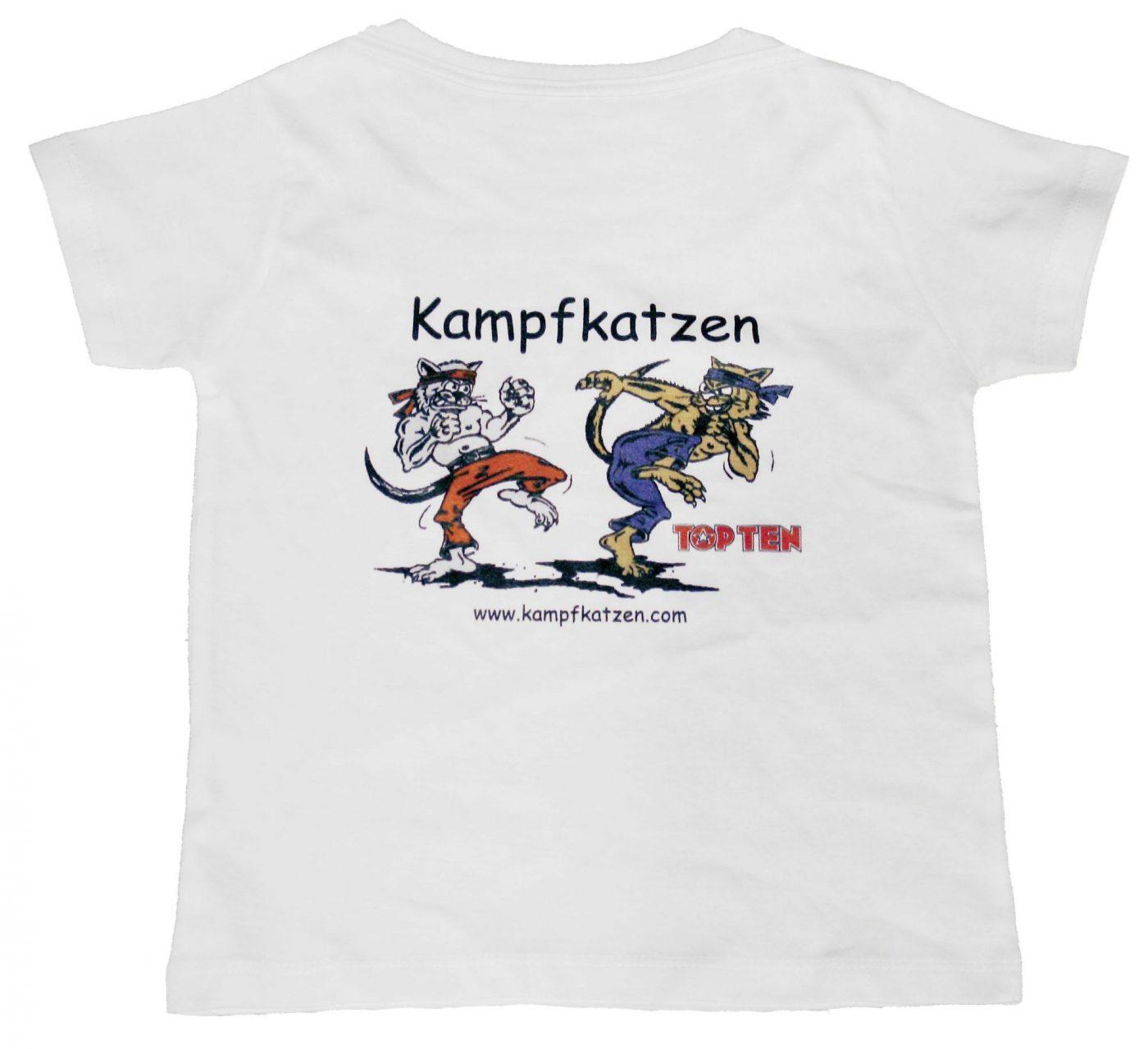 """T-Shirt voor kinderen """"Kampfkatzen"""" voor kinderen Wit"""