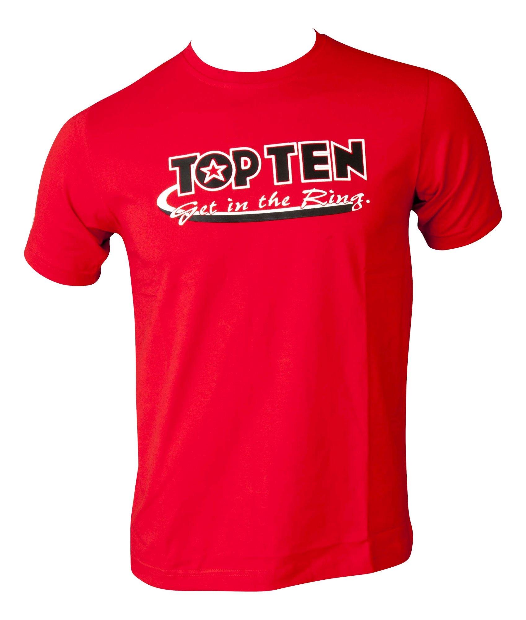 """TOP TEN T-Shirt """"Get in the Ring"""" Grijs"""