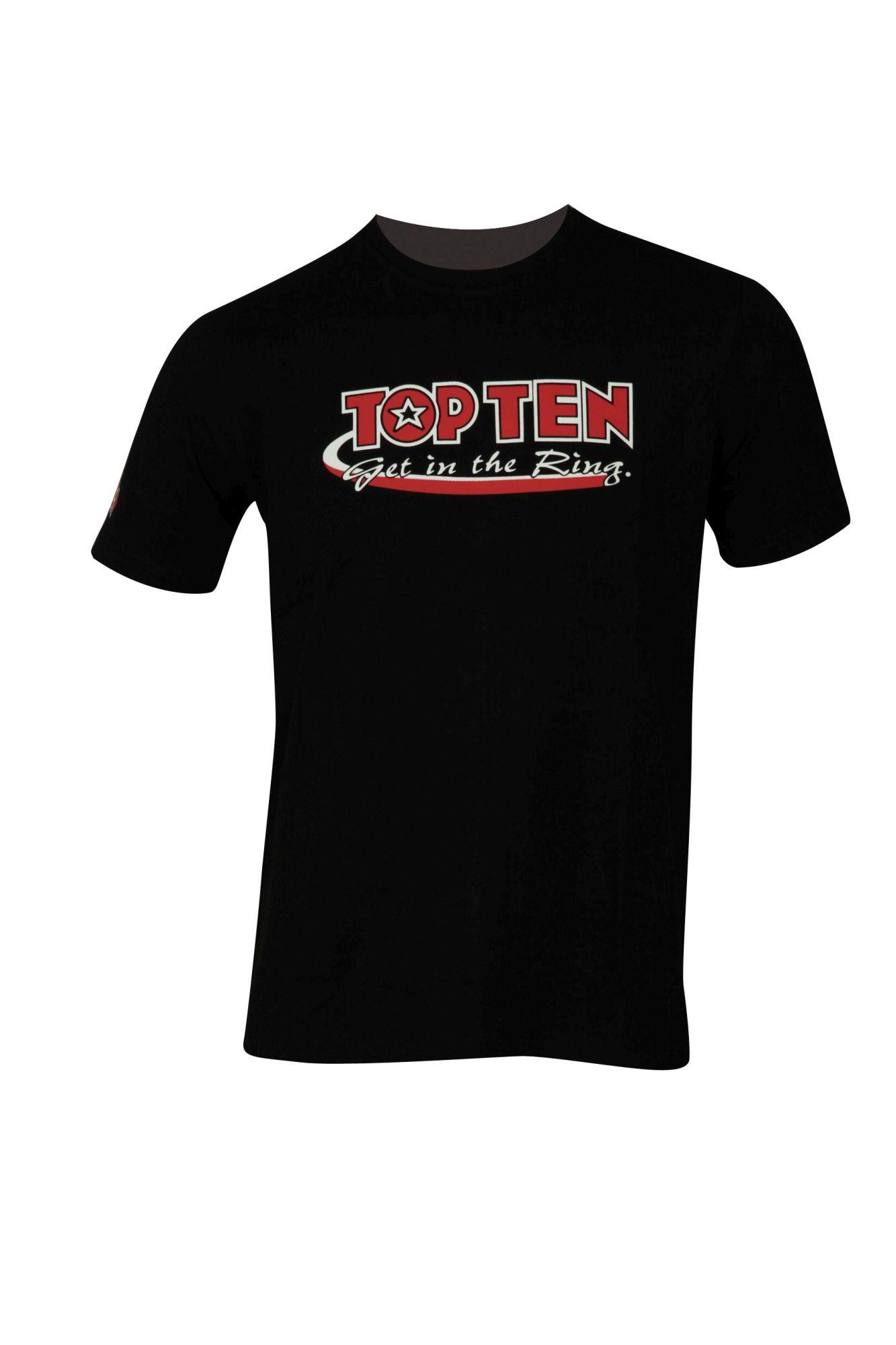 """TOP TEN T-Shirt """"Get in the Ring"""" Zwart"""