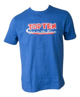 "TOP TEN T-Shirt ""Get in the Ring"" Blauw"