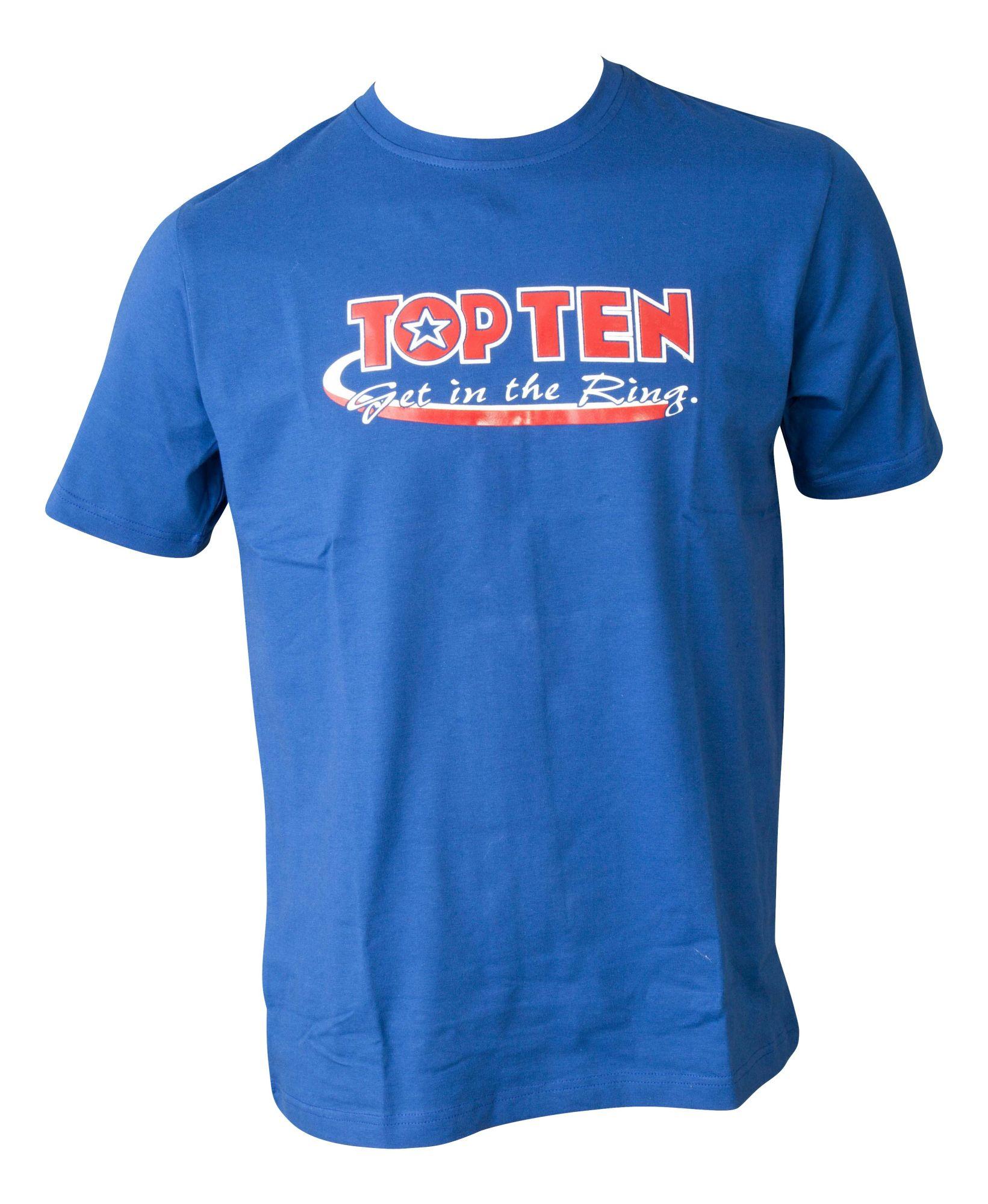 """TOP TEN T-Shirt """"Get in the Ring"""" Blauw"""