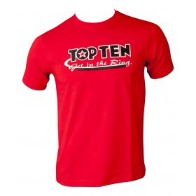 "TOP TEN T-Shirt ""Get in the Ring"" Rood"