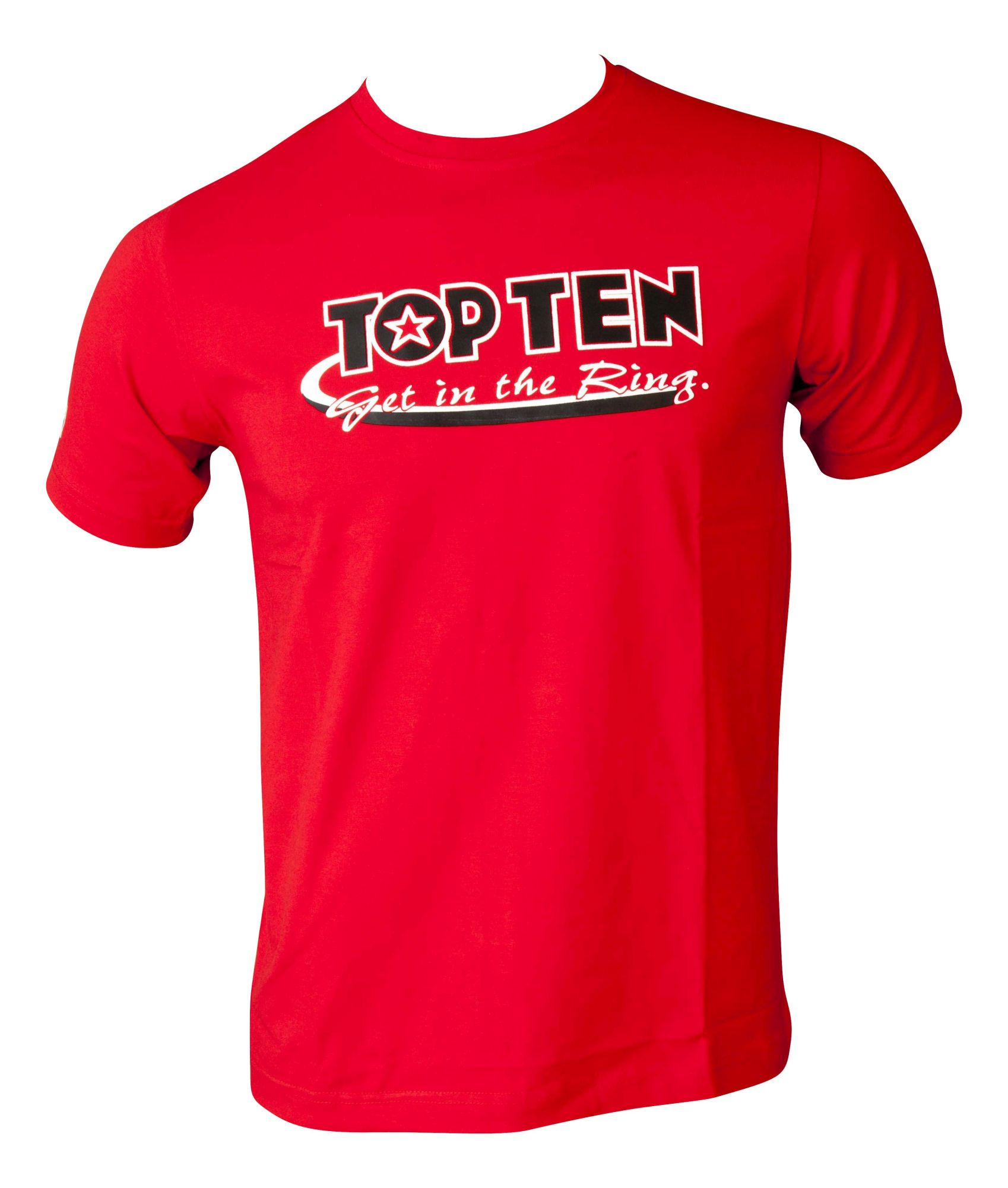 """TOP TEN T-Shirt """"Get in the Ring"""" Rood"""