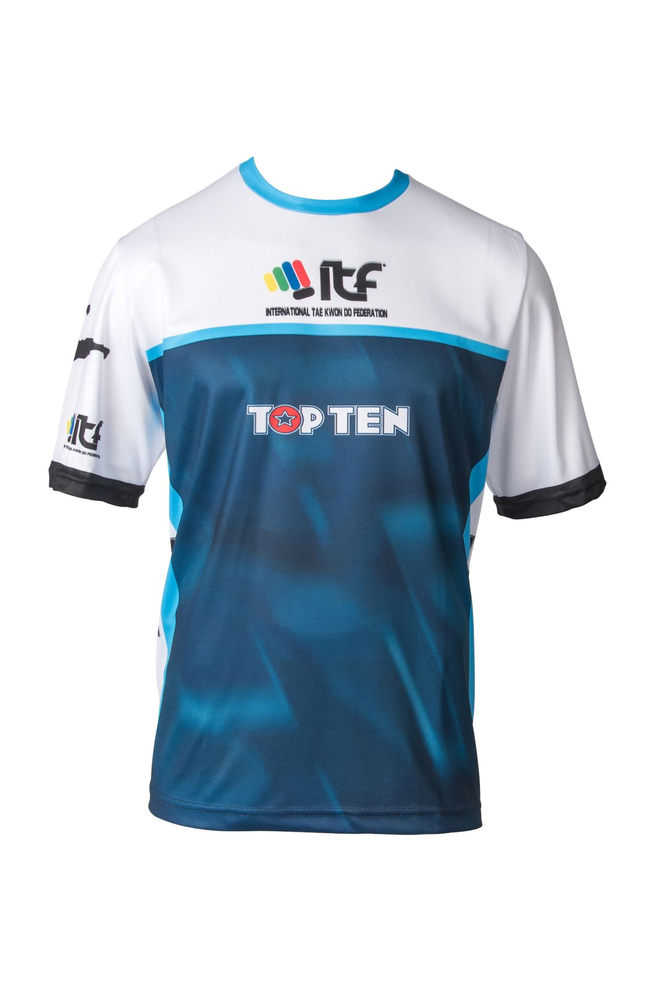 "T-Shirt ""ITF"" Blauw - Wit"