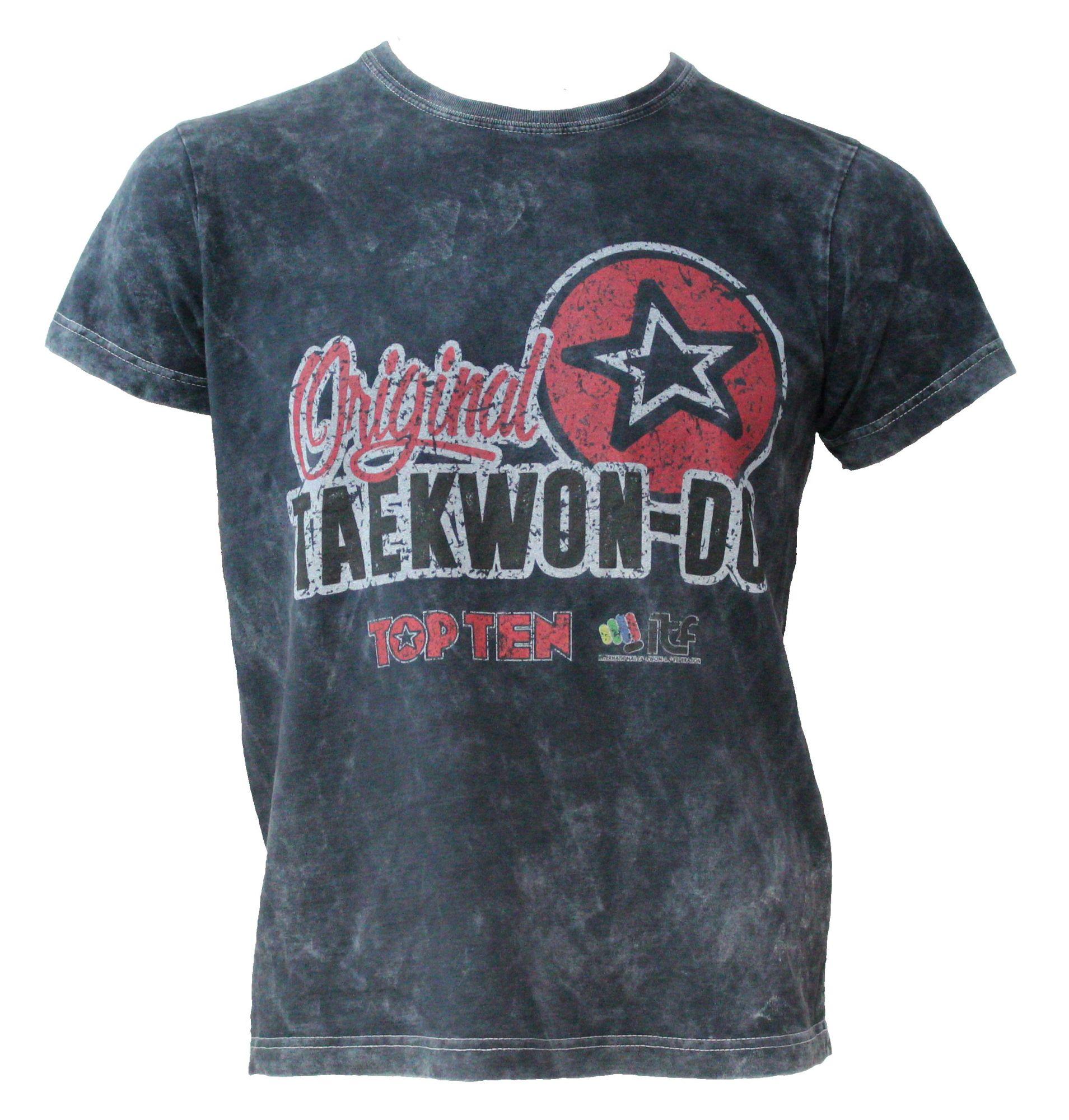 "TOP TEN T-Shirt ""ITF Original Taekwondo Retrolook"" Grijs"