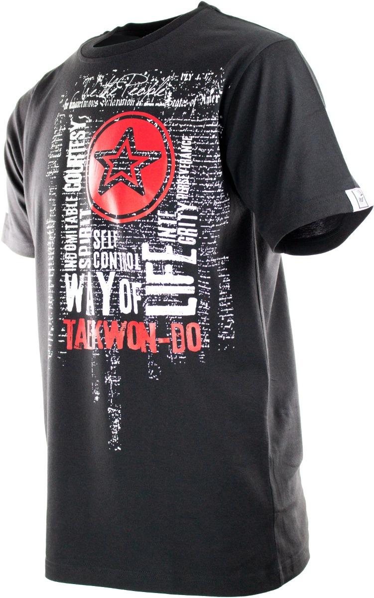 """TOP TEN T-Shirt """"ITF Taekwondo Way of Life"""" Zwart"""