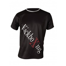 """TOP TEN T-Shirt """"KickboXing"""" met diagonale print Zwart"""
