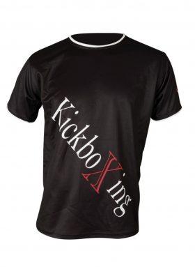"T-Shirt ""KickboXing"" met diagonale print Zwart"