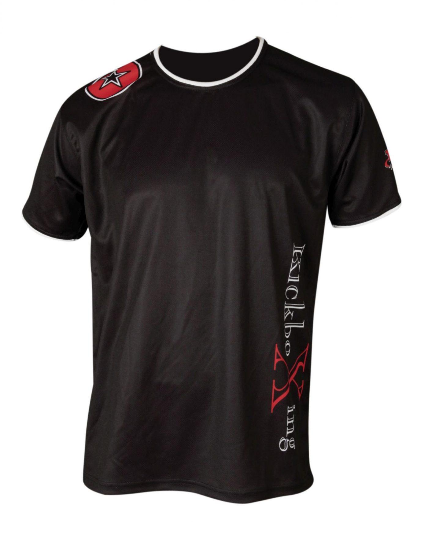 """TOP TEN T-Shirt """"KickboXing"""" met zijprint Zwart"""