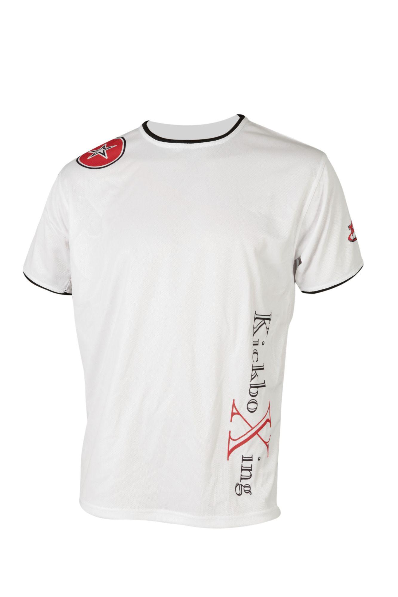 """TOP TEN T-Shirt """"KickboXing"""" met zijprint Wit"""