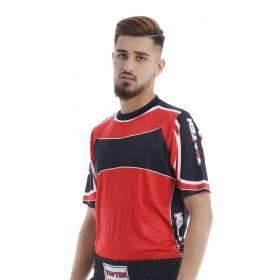 """TOP TEN T-Shirt """"Lycra"""" Rood - Zwart"""
