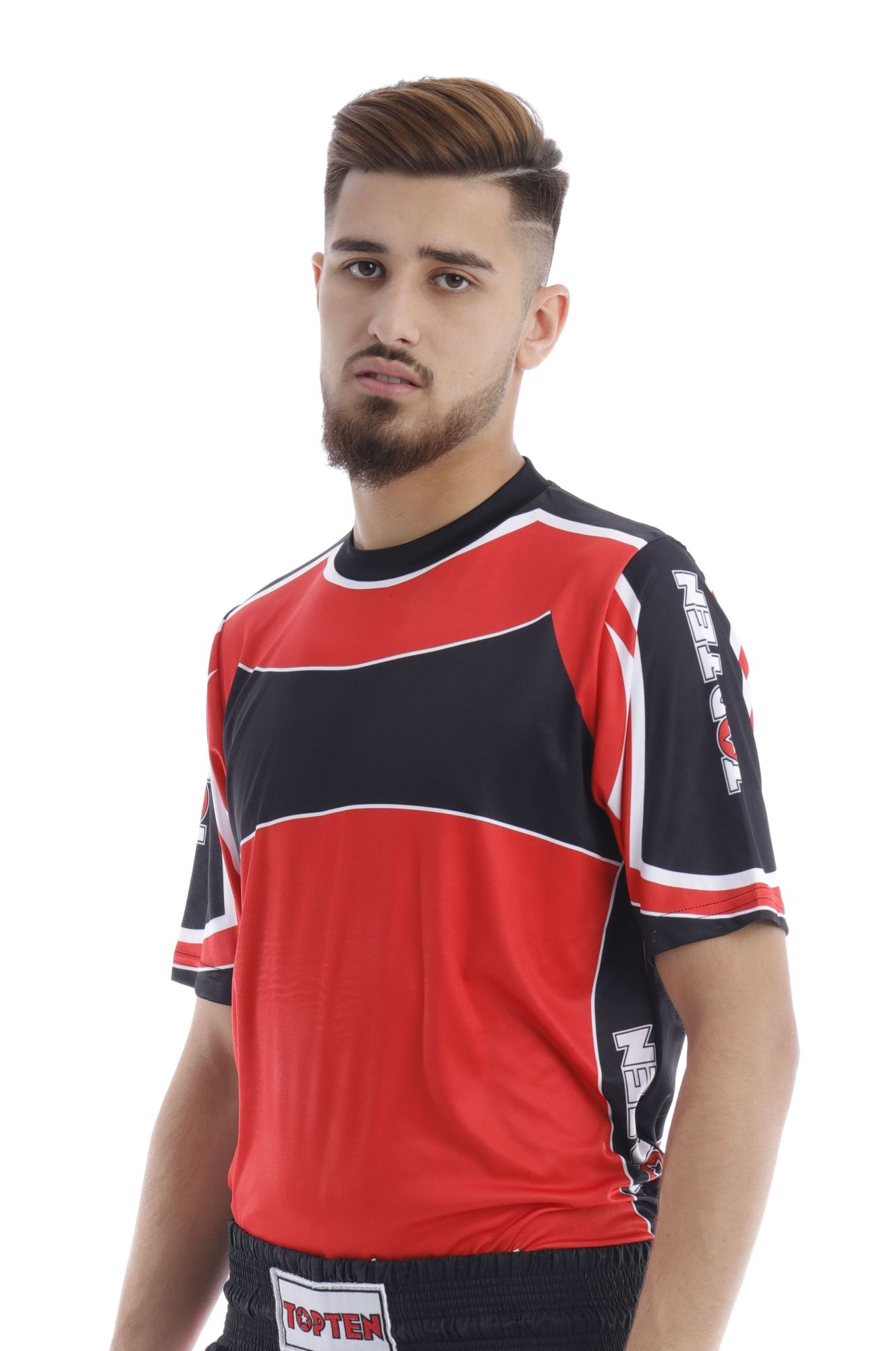 """T-Shirt """"Lycra"""" Rood - Zwart"""