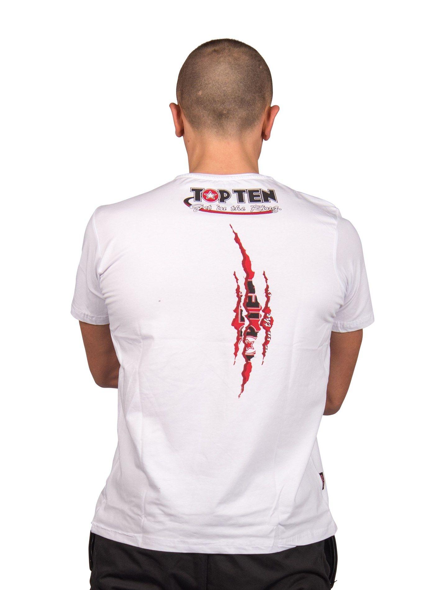 """TOP TEN T-Shirt """"Scratch"""" Wit"""
