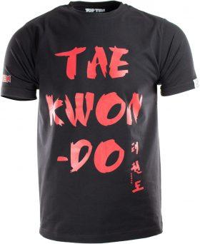 """T-Shirt """"Taekwondo"""" Zwart - rood"""