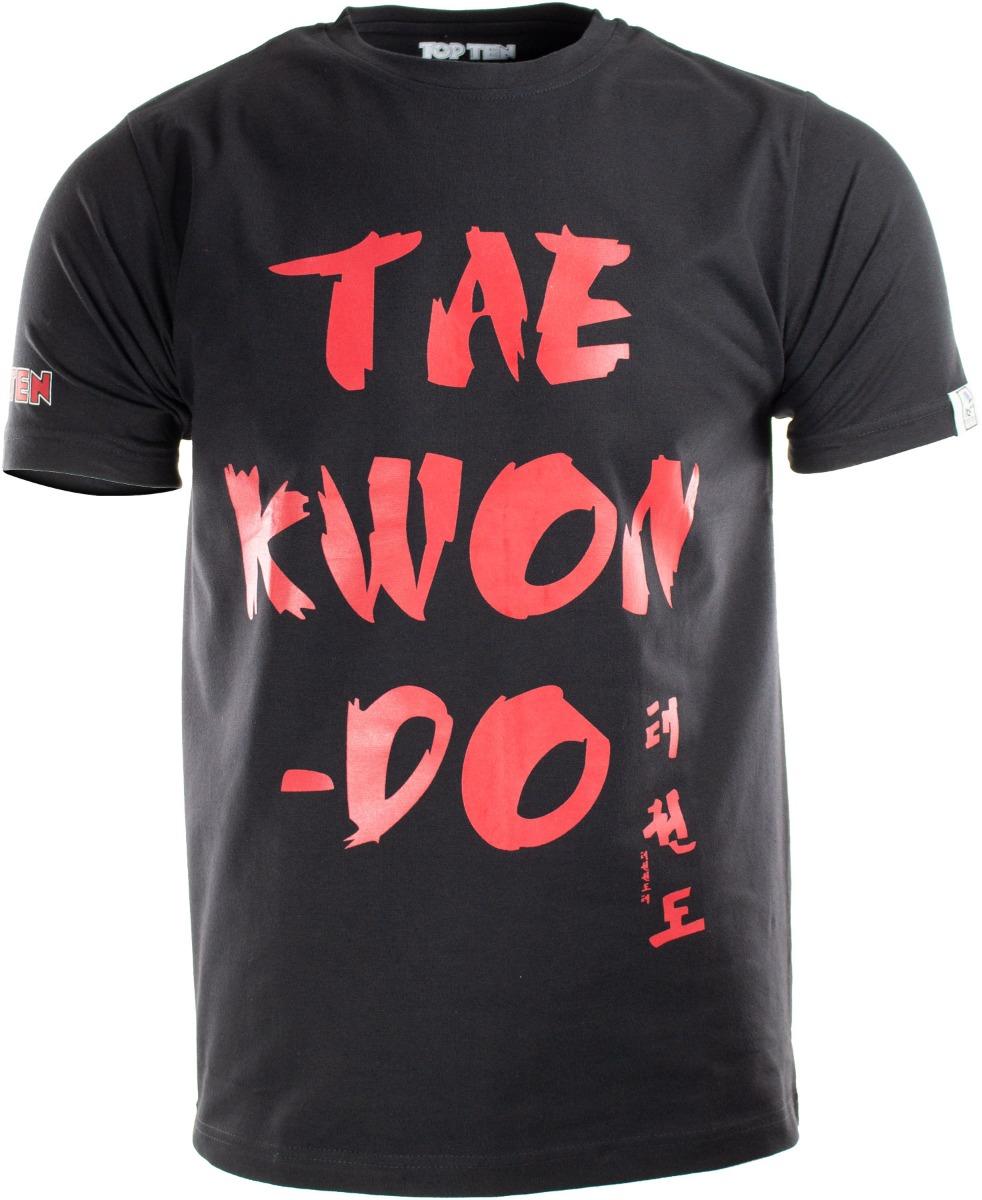 """TOP TEN T-Shirt """"Taekwondo"""" Zwart - rood"""