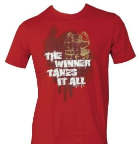 "TOP TEN T-Shirt ""The winner takes"" Rood"