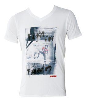 "T-Shirt  V-Hals ""Andreas Hofer"" Wit"