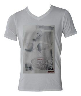 "T-Shirt  V-Hals ""Ringgirl sitting II"" Wit"