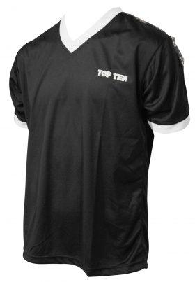 "T-Shirt  V-Hals ""Winner"" Zwart"