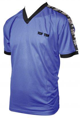 "T-Shirt  V-Hals ""Winner"" Blauw"