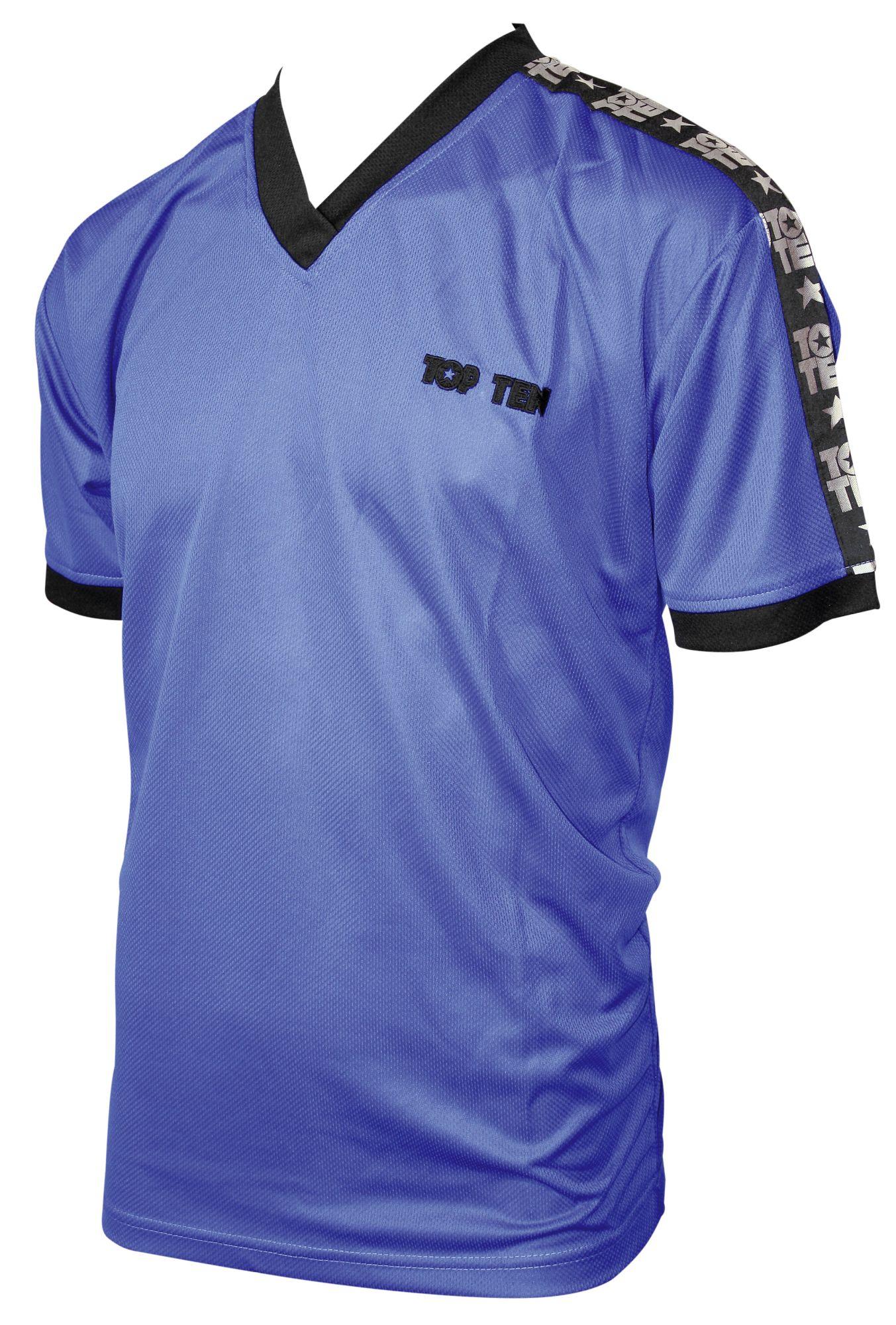 """TOP TEN T-Shirt  V-Hals """"Winner"""" Blauw"""