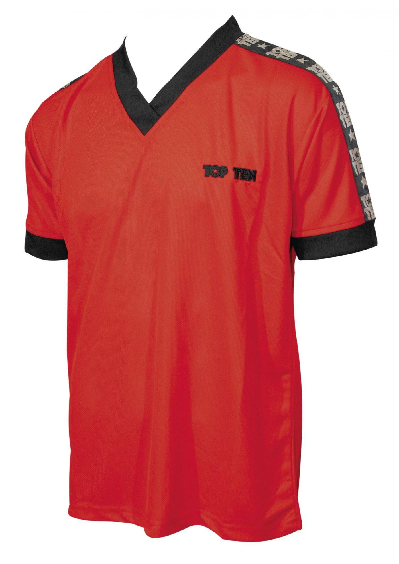 "TOP TEN T-Shirt  V-Hals ""Winner"" Rood"