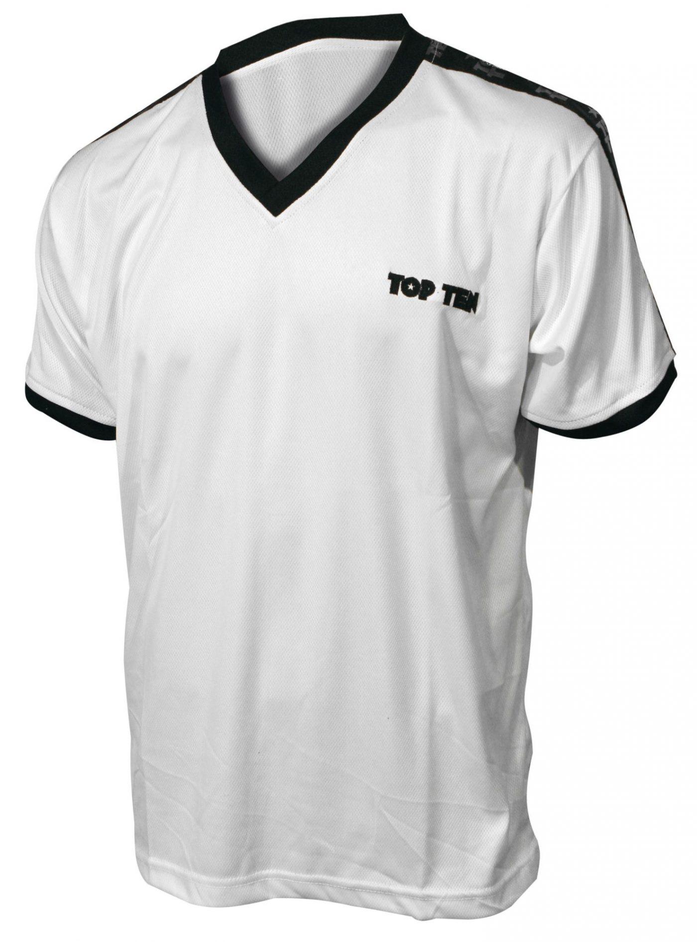 "TOP TEN T-Shirt V-Hals ""Winner"" Wit"