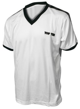 "T-Shirt  V-Hals ""Winner"" Wit"