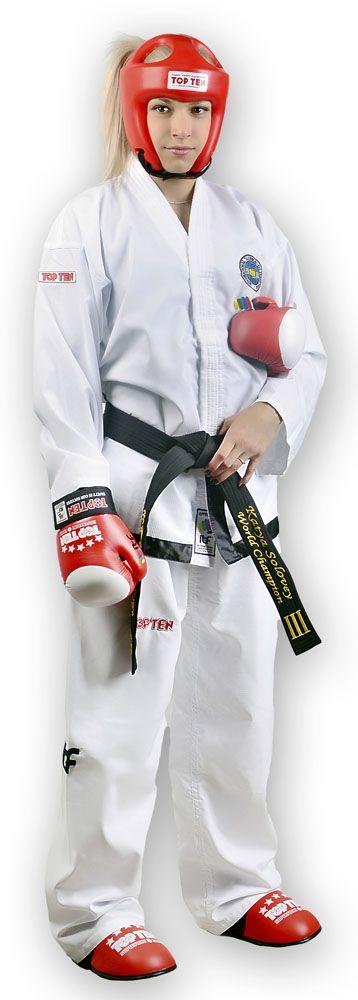 TOP TEN Taekwondopak Master 1e / 3e dan (Wit)