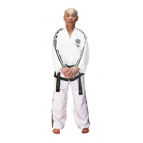 "TOP TEN Taekwondo Grandmaster Dobok ""Premium goud"" (7th Wit)"