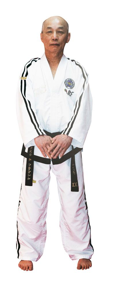 "Taekwondo Grandmaster Dobok ""Premium goud"" (7th Wit"