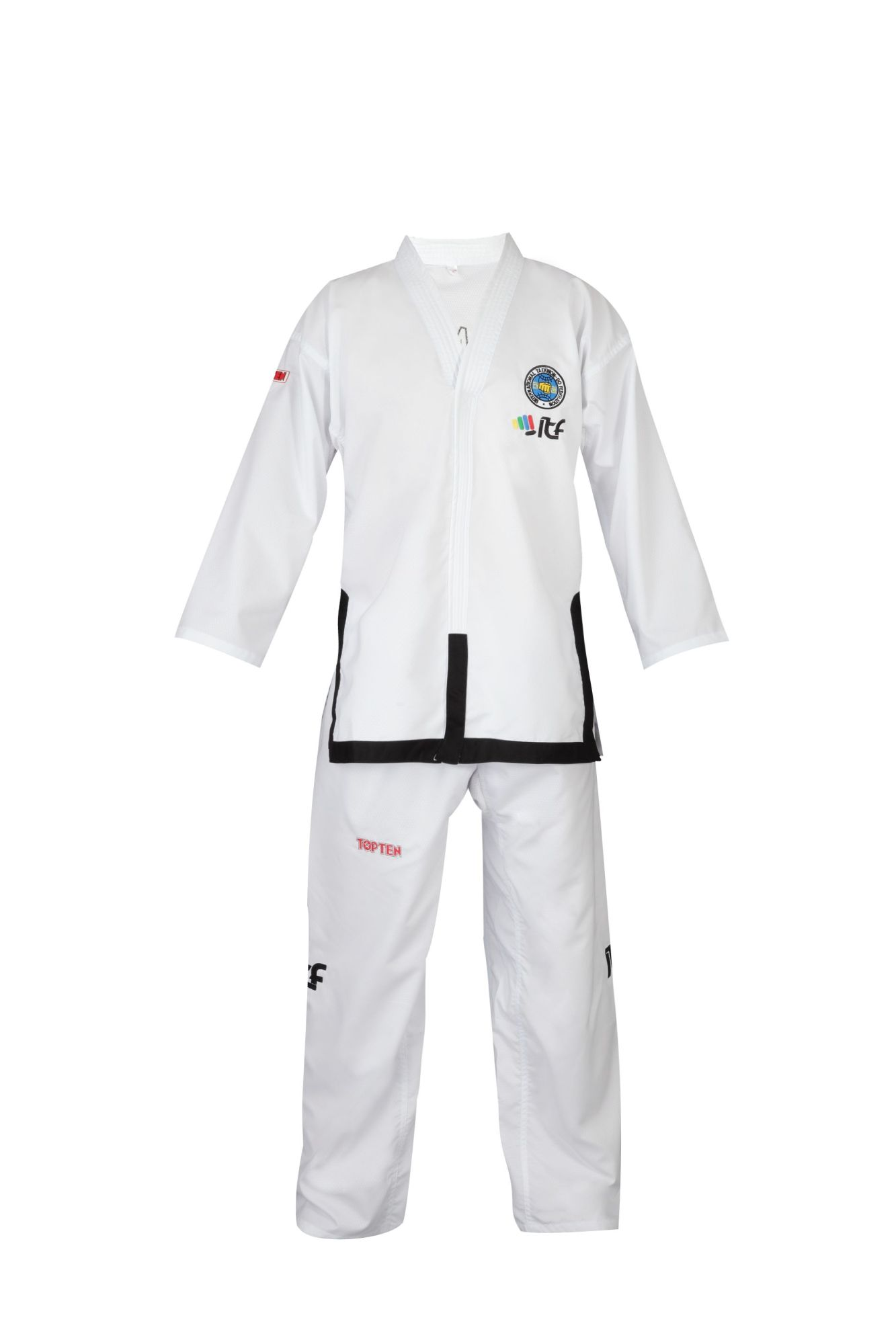 "TOP TEN Taekwondo Master Dobok ""Diamond"" (ITF approved) Wit"