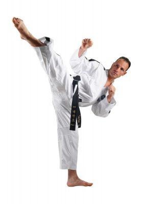"Taekwondo Instructor Dobok ""Premium goud"" (4th Wit"