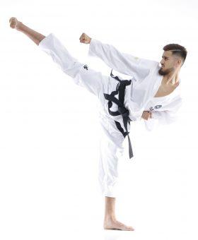"""Taekwondo Master Dobok """"Premium goud"""" (ITF approved) Wit"""