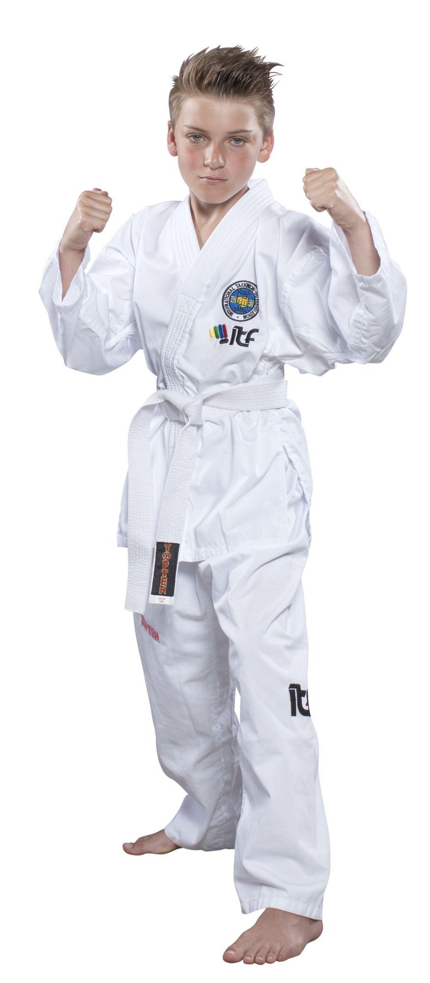 """Taekwondopak """"De-Luxe"""" (ITF approved) Wit"""