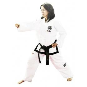 "TOP TEN Taekwondo Master Dobok ""Pattern"" (ITF approved) Wit"
