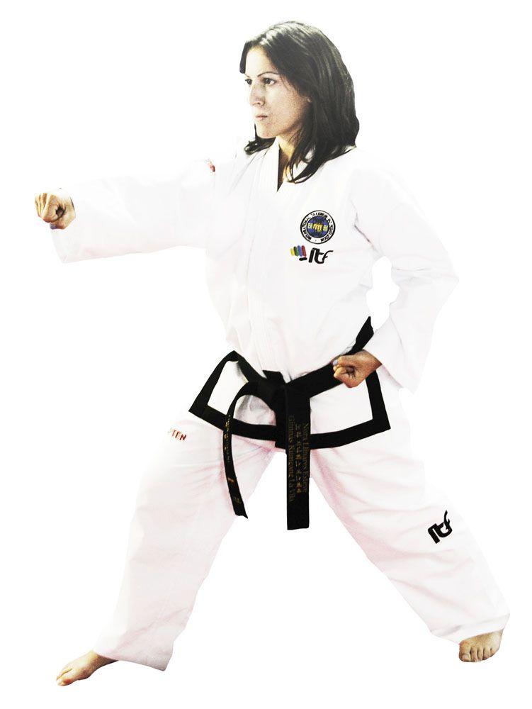 "Taekwondo Master Dobok ""Pattern"" (ITF approved) Wit"