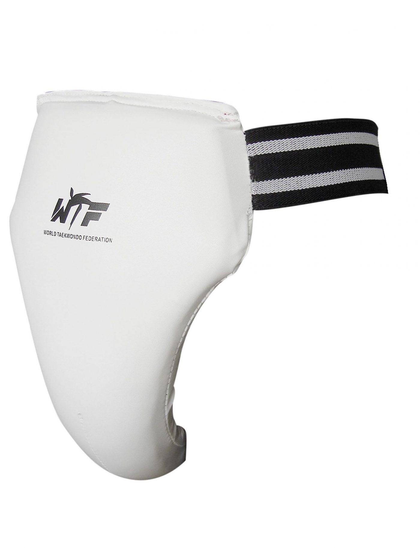 TOP TEN Taekwondo Kruisbeschermer (WTF approved) Wit - Zwart