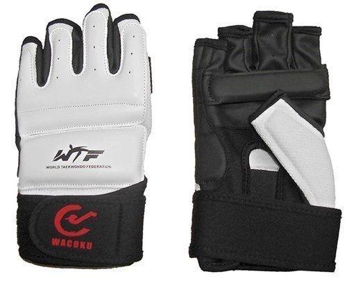 Wacoku Taekwondo handschoenen (WTF approved) Wit - Zwart