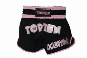 "Top Ten Kickboksbroekje ""FLEXZ PRO"" (Zwart / Roze)"